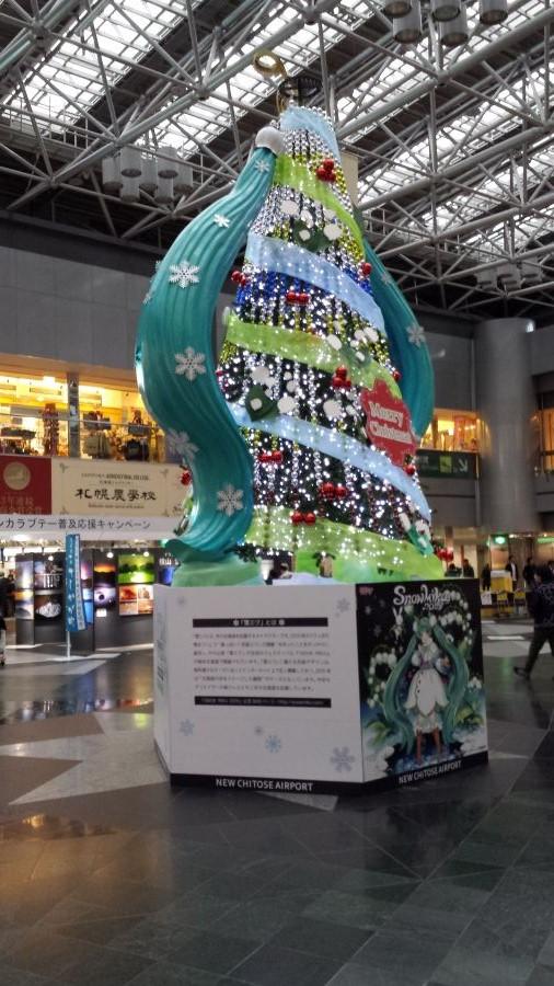 初音ミクのクリスマスツリー(千歳空港)