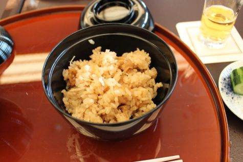 【食事】-浅利新生姜御飯