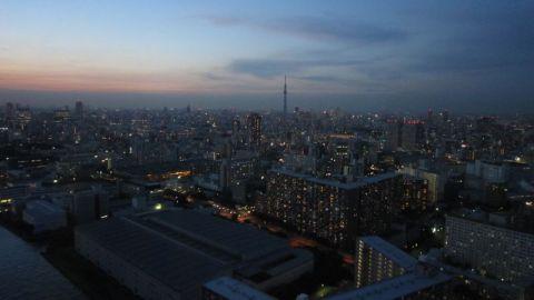夕方の東京スカイツリー