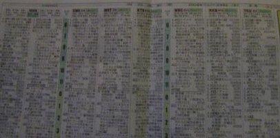 宮崎のテレビ欄